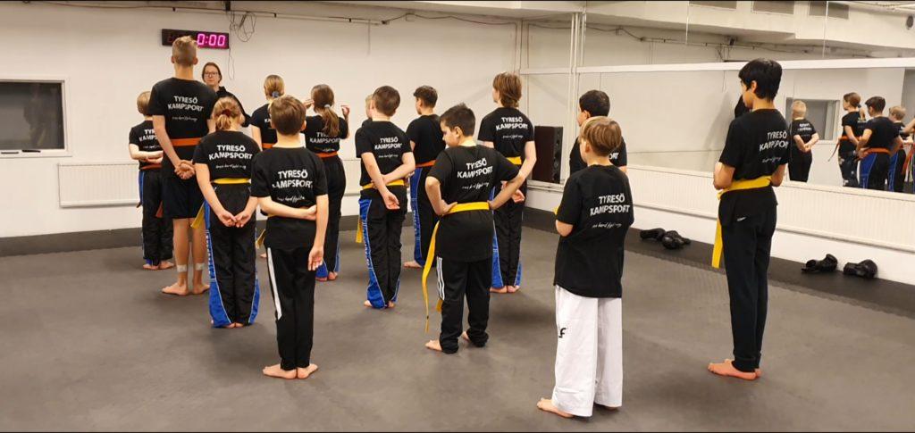 Kickboxning- barngruppen